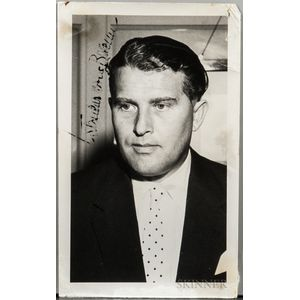 von Braun, Wernher, Signed Photograph and Three Other Photographs.