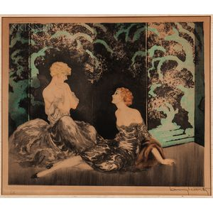 Louis Icart (French, 1888-1950)      Intimité