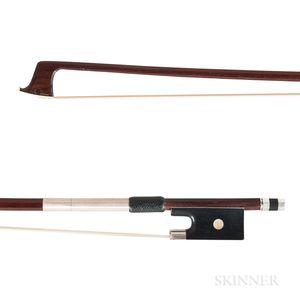 French Silver-mounted Violin Bow, Dominique Peccatte