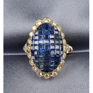 22kt Gold, Sapphire and Diamond Ring