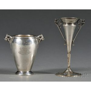Two Small Gorham Silver Bud Vases