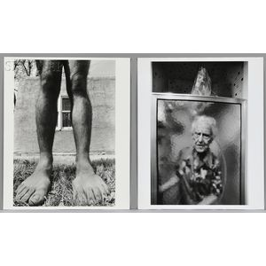Anne Noggle (American, 1922-2005)      Two Photographs: Agnes   and Vertical Stance