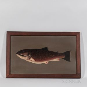 American School, Early 20th Century      Portrait of a Rainbow Trout