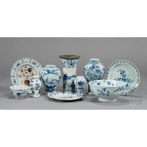 Ten Delft Pottery Items