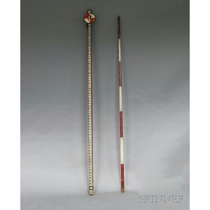 Painted Surveying Tool and Measuring Stick