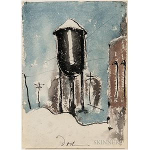 Arthur Garfield Dove (American, 1880-1946)      Lehigh Water Tower