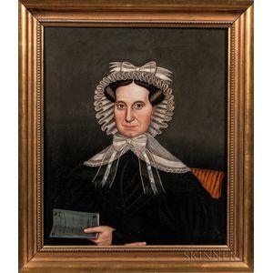 Milton Hopkins (New York/Connecticut/Ohio, 1789-1844)      Mrs. Clarissa Hovey AE 52, 1830