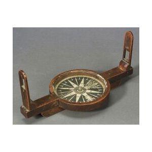 Mahogany Surveyor's Compass by Samuel Emery