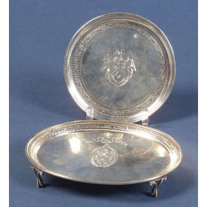 Two Small George III Silver Footed Salvers