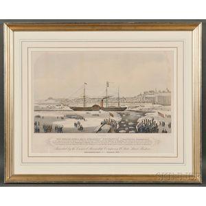 "James Alexander, publisher (American, 19th Century)       The Cunard Royal Mail Steamship ""Britannia"" (John Hewett, Commander)."