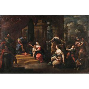 Italian School, 17th Century Style      The Judgment of Solomon