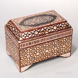 Iberian Inlaid Table Casket