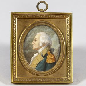 French/American School, Early 19th Century      Miniature Portrait of General George Washington