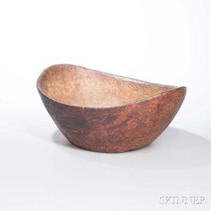 Carved Burl Bowl