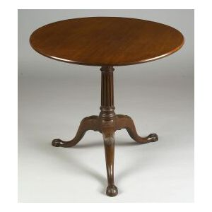 Chippendale Mahogany Carved Tilt-top Tea Table
