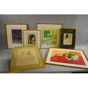 Six Works:      Jack Levine (American, 1915-2010), Nanno/Mosca