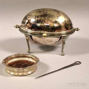 Three English Silver and Silver-plated Tableware Articles