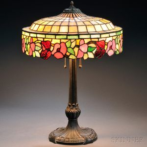 Mosaic Glass Table Lamp Attributed to Chicago Mosaic Shade Co.