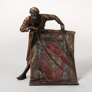 Austrian Cold-painted Bronze Figure of a Carpet Seller