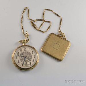 Gruen Verithin 14kt Gold Open-face Pocket Watch