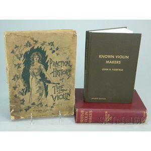 Three Books on Violinmakers.