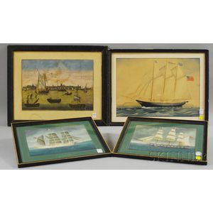 Four Framed Marine Works