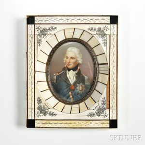 Grand Tour Miniature Portrait of Admiral Lord Nelson