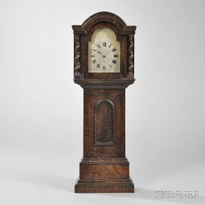 James G. Bradley Eight-day Detached Lever Miniature Longcase Clock