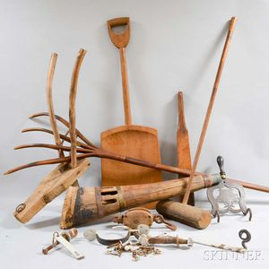 Group of Assorted Tools and Domestic Items