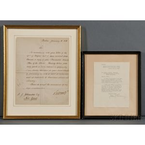 Otto von Bismarck (1815-1898) and John J. Pershing (1860-1948) Letters Signed.