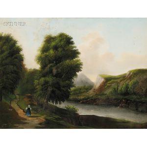 American School, 19th Century      Stroll by the River