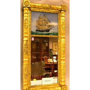 Federal Giltwood Tabernacle Mirror and Split Baluster Mirror