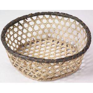 Blue and White Woven Splint Basket