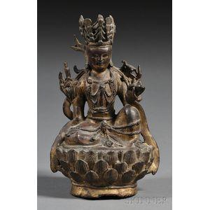 Gilt-bronze Buddhist Image