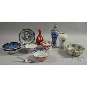 Ten Mostly Chinese Porcelain Items