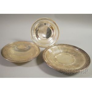 Three Sterling Silver Plates