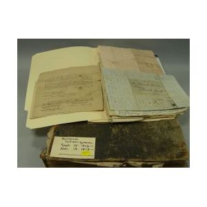 Group of 1812-1816 Maine/Massachusetts Military Related Letters and Documents and a   Bound Set of 1812-1813 National Intelligencer