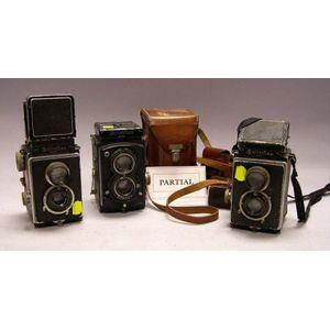 Group of Five Pre-War Rolleiflex Cameras
