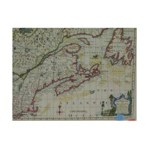 Map of New England and Nova Scotia