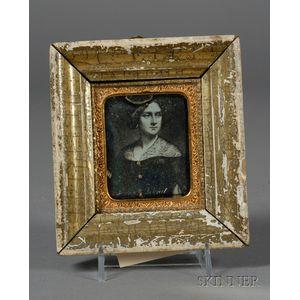 Daguerreotype Portrait of Jenny Lind Taken From a Portrait Miniature