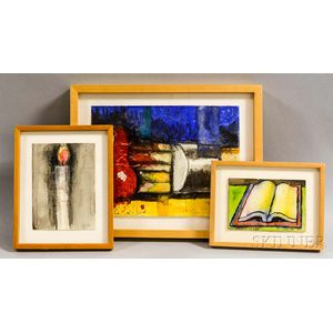 Aaron Fink (American, b. 1955)      Three Works on Paper