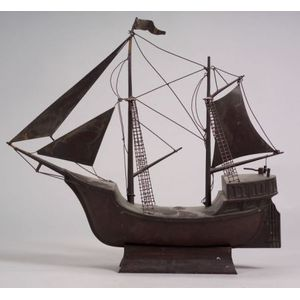 Copper Sailing Vessel Model