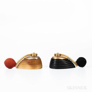 Two Art Deco Glass Atomizers