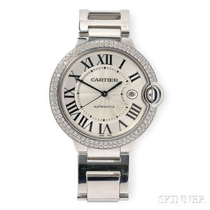 """18kt White Gold and Diamond """"Ballon Bleu"""" Wristwatch, Cartier"""