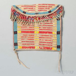 Lakota Quilled and Beaded Hide Bag