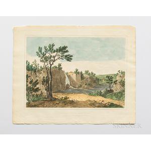 Shaw, Joshua (1776-1860) The Landscape Album. Picturesque Views of American Scenery.