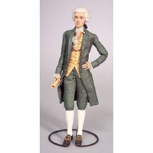 Dorothy Heizer Cloth Doll, Thomas Jefferson