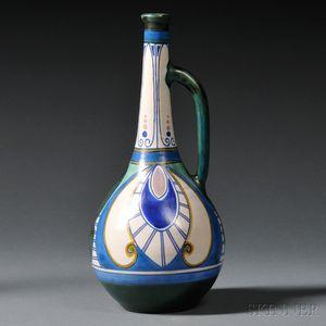 Zuid Holland Gouda Damascus   Pattern Pottery Jug