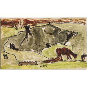 Arthur Garfield Dove (American, 1880-1946)      Cows and Stumps