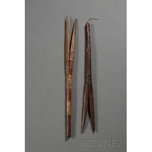Two Australian Aborigine Dance Wands (?)